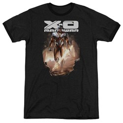 Xo Manowar - Mens Lightning Sword Ringer T-Shirt