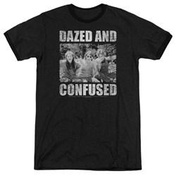 Dazed And Confused - Mens Rock On Ringer T-Shirt