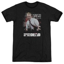 Shaun Of The Dead - Mens Hero Must Rise Ringer T-Shirt
