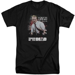 Shaun Of The Dead - Mens Hero Must Rise Tall T-Shirt