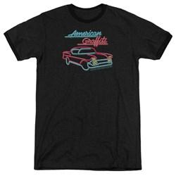American Grafitti - Mens Neon Ringer T-Shirt