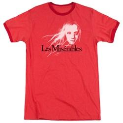 Les Miserables - Mens Textured Logo Ringer T-Shirt