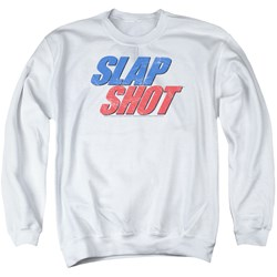 Slap Shot - Mens Blue And Red Logo Sweater
