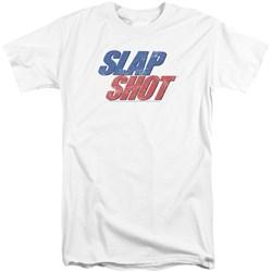 Slap Shot - Mens Blue And Red Logo Tall T-Shirt
