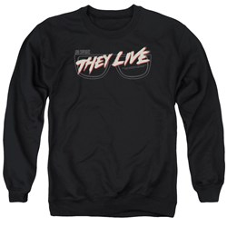 They Live - Mens Glasses Logo Sweater