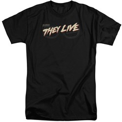 They Live - Mens Glasses Logo Tall T-Shirt