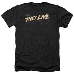 They Live - Mens Glasses Logo Heather T-Shirt