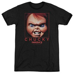 Childs Play - Mens Chucky Squared Ringer T-Shirt