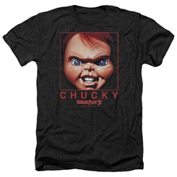 Childs Play - Mens Chucky Squared Heather T-Shirt