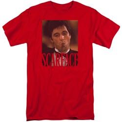Scarface - Mens Smoking Cigar Tall T-Shirt