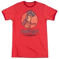 Land Before Time - Mens Sharptooth Ringer T-Shirt