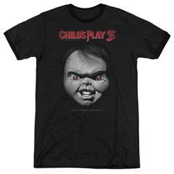 Childs Play 3 - Mens Face Poster Ringer T-Shirt