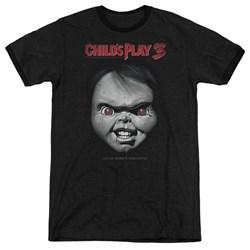 Childs Play 3 - Mens Face Poster Ringer T-Shirt