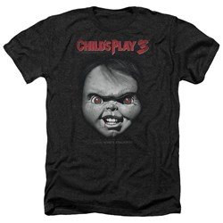 Childs Play 3 - Mens Face Poster Heather T-Shirt