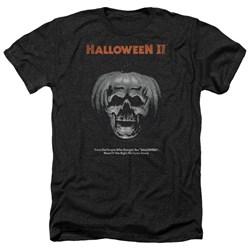 Halloween II - Mens Pumpkin Poster Heather T-Shirt