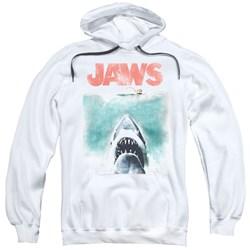 Jaws - Mens Vintage Poster Pullover Hoodie
