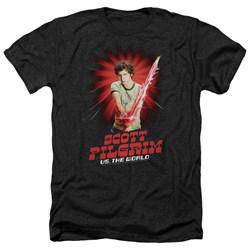 Scott Pilgrim - Mens Super Sword Heather T-Shirt