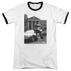 Back To The Future II - Mens Einstein Ringer T-Shirt