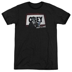 They Live - Mens Obey Ringer T-Shirt
