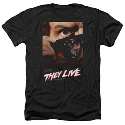 They Live - Mens Poster Heather T-Shirt