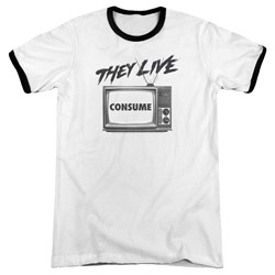 They Live - Mens Consume Ringer T-Shirt