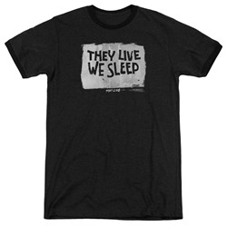 They Live - Mens We Sleep Ringer T-Shirt