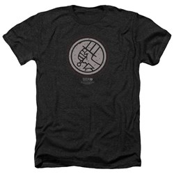 Hellboy II - Mens Mignola Style Logo Heather T-Shirt