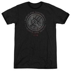 Hellboy II - Mens Bprd Stone Ringer T-Shirt