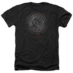 Hellboy II - Mens Bprd Stone Heather T-Shirt
