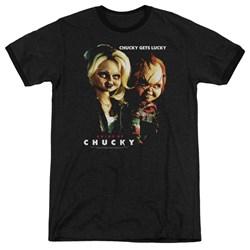 Bride Of Chucky - Mens Chucky Gets Lucky Ringer T-Shirt