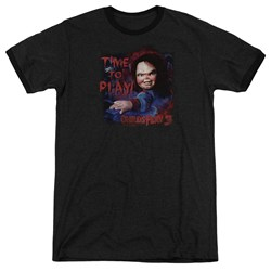 Childs Play 3 - Mens Time To Play Ringer T-Shirt