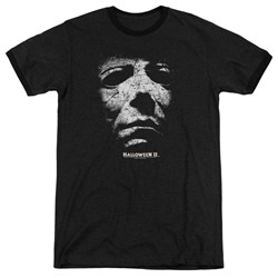 Halloween II - Mens Mask Ringer T-Shirt