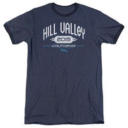 Back To The Future II - Mens Hill Valley 2015 Ringer T-Shirt
