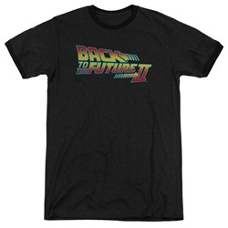 Back To The Future II - Mens Logo Ringer T-Shirt