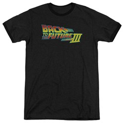 Back To The Future III - Mens Logo Ringer T-Shirt