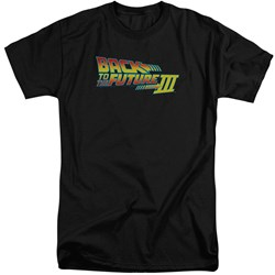 Back To The Future III - Mens Logo Tall T-Shirt