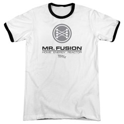 Back To The Future II - Mens Mr. Fusion Logo Ringer T-Shirt