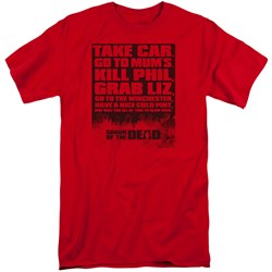 Shaun Of The Dead - Mens List Tall T-Shirt