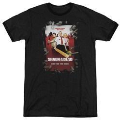 Shaun Of The Dead - Mens Poster Ringer T-Shirt