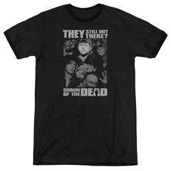 Shaun Of The Dead - Mens Still Out There Ringer T-Shirt