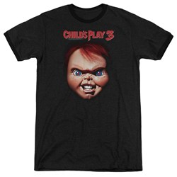 Childs Play 3 - Mens Chucky Ringer T-Shirt