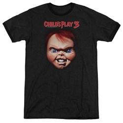 Childs Play 3 - Mens Chucky Ringer T-Shirt