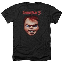 Childs Play 3 - Mens Chucky Heather T-Shirt