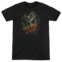 Jurassic Park - Mens Clever Girl Ringer T-Shirt