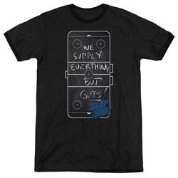 Slap Shot - Mens Chalkboard Ringer T-Shirt