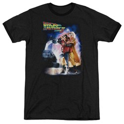 Back To The Future II - Mens Poster Ringer T-Shirt