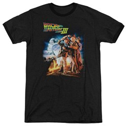 Back To The Future Iii - Mens Poster Ringer T-Shirt
