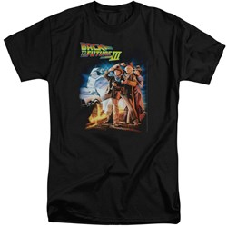 Back To The Future III - Mens Poster Tall T-Shirt