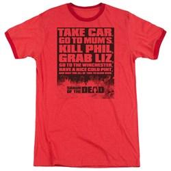 Shaun Of The Dead - Mens List Ringer T-Shirt