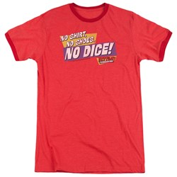 Fast Times Ridgemont High - Mens No Dice Ringer T-Shirt